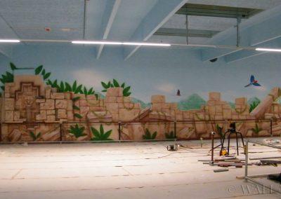 malowidła ścienne - ruiny - sala zabaw