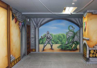 malowidła ścienne w pokoju urodzinowym - rycerz