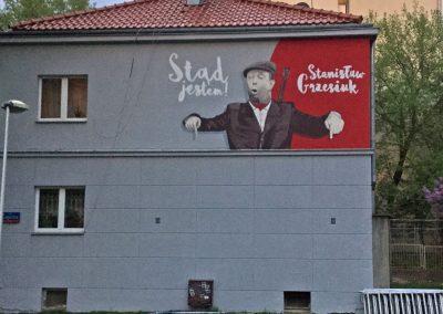 mural - Stanisław Grzesiuk, Warszawa