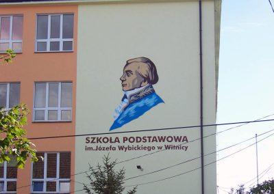 mural na ścianie szkoły podstawowej - Witnica