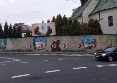 wykonany mural w Wieluniu