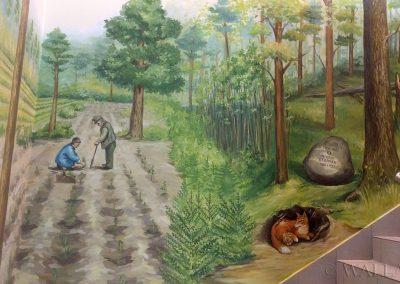 namalowany las - obraz ścienny