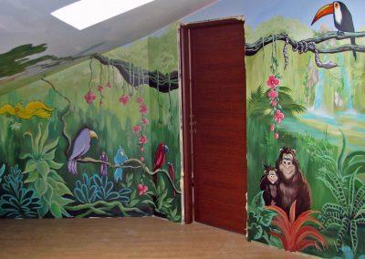 malowidła ścienne - sala zabaw - dżungla