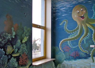 malowidło ścienne - ośmiornica