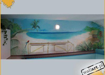 malunki na ścianie - plaża i morze