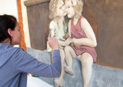 fragment muralu - amorki