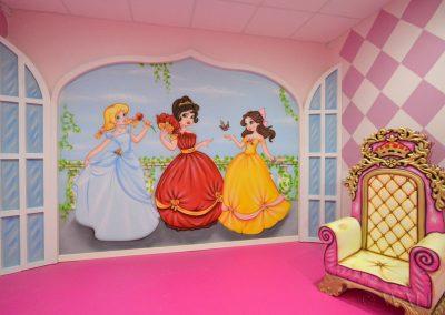 malowidła ścienne - pokój księżniczek