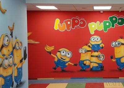 wykonane malowidło w przedszkolu Luppo Puppo - minionki
