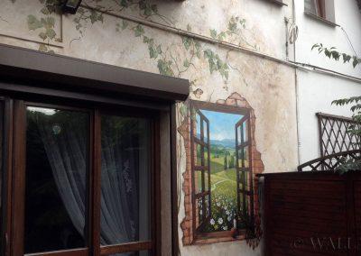 obraz na ścianie - namalowane okno