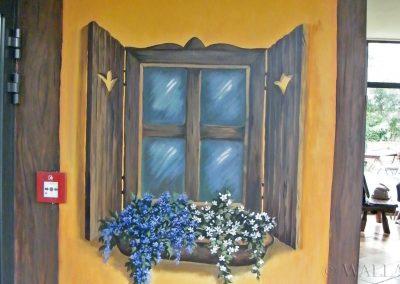 malowidło ścienne - namalowane okno
