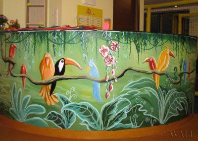 malowidła ścienne - papugi