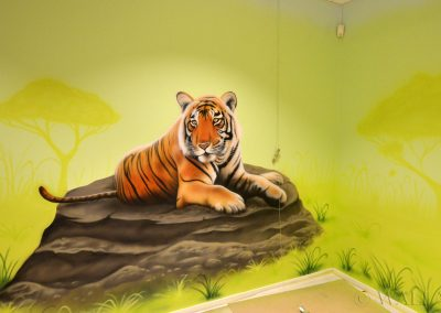 obraz ścienny - realistyczny tygrys
