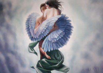malowidło w pokoju - anioł