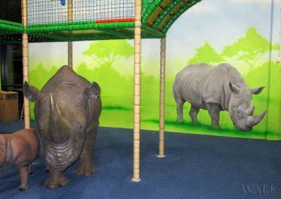 malowidło ścienne - nosorożec