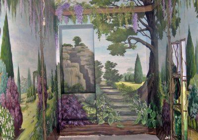 malowidło ścienne - ogród