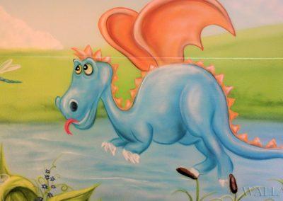 malowidło ścienne - namalowany smok