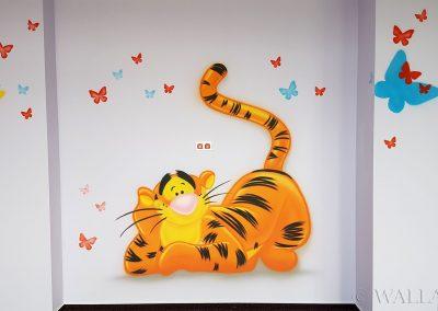 namalowany obraz -  tygrysek