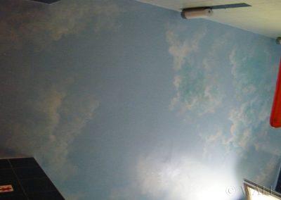 pomalowany sufit - namalowane niebo