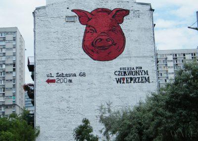 mural - Oberża pod Czerwonym Wieprzem, Warszawa