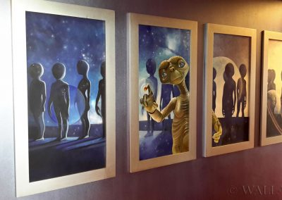 kosmiczne obrazy na ścianie - ET