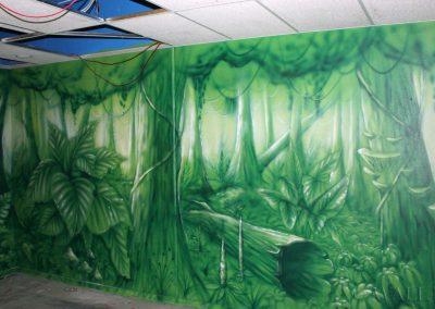 malowidło ścienne - dżungla