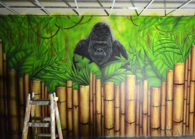 malowidła ścienne - goryl