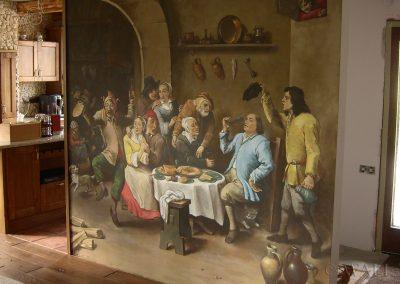 malowidło ścienne w pokoju - obraz Król Pije