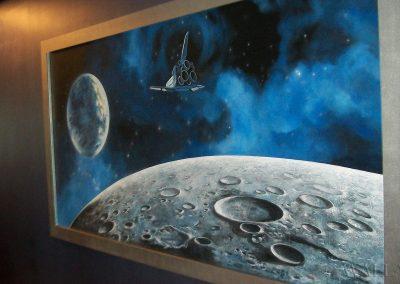 wykonany obraz - Księżyc