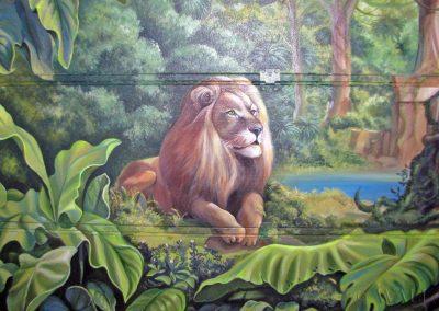 malowidło na ścianie - lew