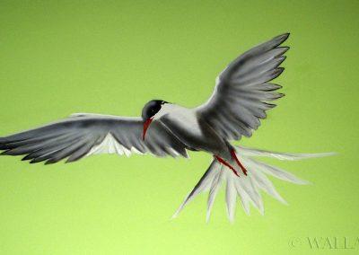 malowidło ścienne - ptak