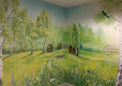 wykonane malowidło ścienne