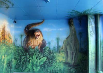 obraz na ścianie - dinozaur