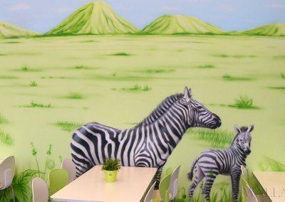 malunki na ścianie - obraz zebry