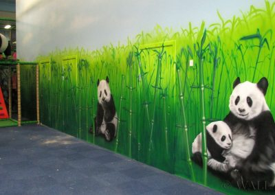 malowidło ścienne - panda