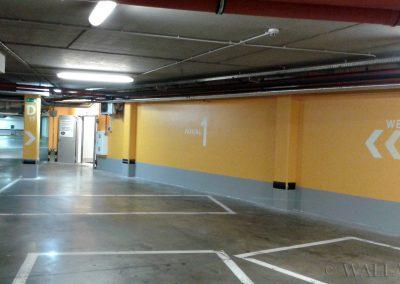 pomalowane ściany - SIW oznakowanie parkingu - namalowane grafiki