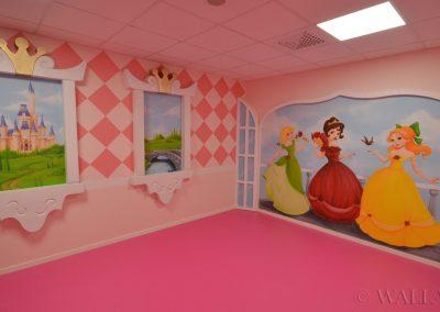 malowidła ścienne - party room - księżniczki