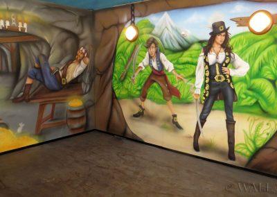 obrazy ścienne w sali zabaw - piraci