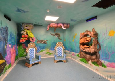 malowidła ścienne - party room - podwodny świat