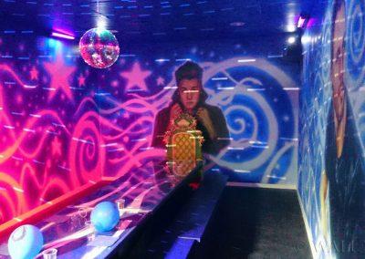 malowidła ścienne - pokój disco