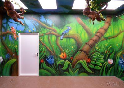 malunki na ścianie - malowidło dżungla