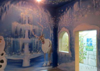 malowidło ścienne - pokój frozen