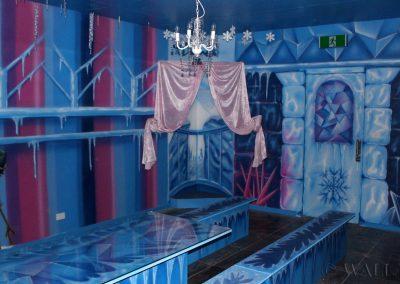 malowidła ścienne - pokój urodzinowy - frozen