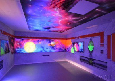 malowidła ścienne - party room - statek kosmiczny