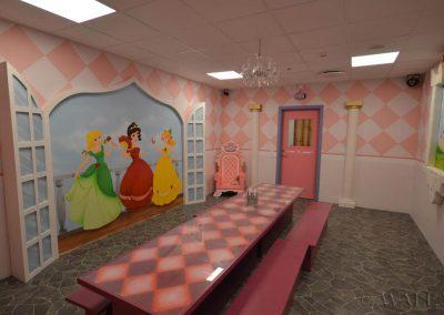 pokój urodzinowy księżniczek - malowidła ścienne