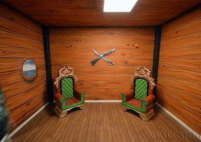 malowidła ścienne - party room - statek piracki