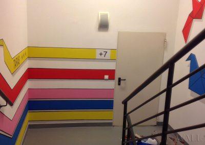 malowidła ścienne - klatka schodowa w biurowcu