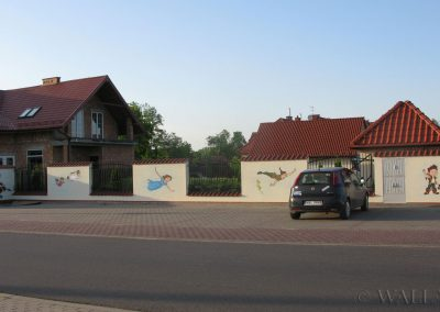 wykonane malowidło - pomalowany murek