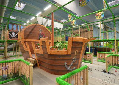 pomalowany statek piracki