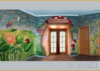malowidło ścienne - wejście do przedszkola