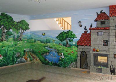 malowidło ścienne w przedszkolu